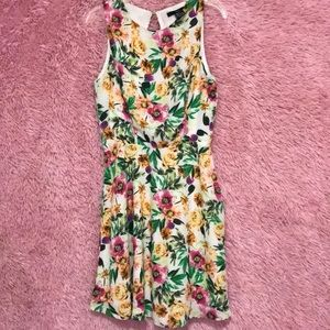 Floral print dress (worn once)
